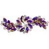 Crystal Motifs Fancy Swirl 10.5x4cm Purple/cognac Aurora Borealis/gunmetal